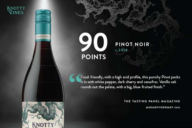 Knotty Vines Pinot Noir 2018 91 Points Sell Sheet